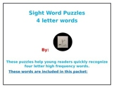 4 Letter Sight Word Puzzles