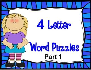 4 Letter Word Puzzles PART 1