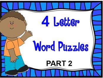 4 Letter Word Puzzles PART 2