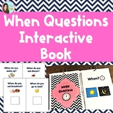 4 Level When Questions Interactive Book