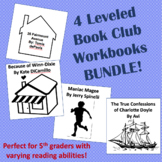 4 Leveled Book Club Workbooks for Cooperative Learning