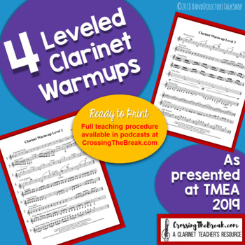 4 Leveled Clarinet Warmups for Band FREEBIE
