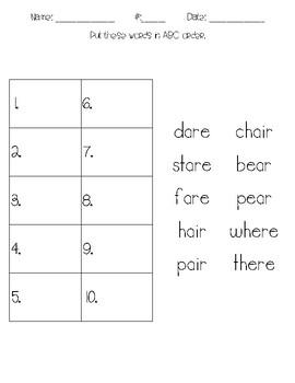 4 Levels ABC Order