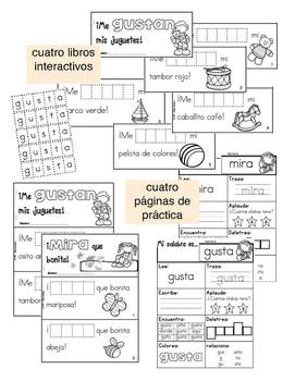 4 Libritos interactivos de palabras de uso frecuente