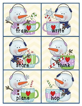 4 Literacy Stations - Winter Themed