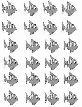 4 Little Fish Printable Math File Folder Game Addition Plus 0 through Plus 5 BW