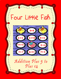4 Little Fish Printable Math File Folder Game Addition Plus 5 through Plus 14
