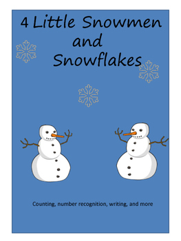 4 Little Snowman and Snowflake Math Activities
