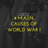4 M.A.I.N. Causes of WWI - Google Slides