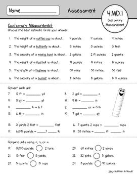 4.MD.1 Assessment: Customary Measuremt