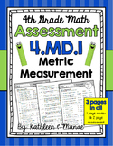 4.MD.1 Assessment: Metric Measurement