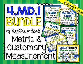 4.MD.1 Bundle: Metric & Customary Measurement