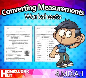 4.MD.1 - Converting Measurements Worksheets