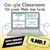 ⭐ GOOGLE CLASSROOM ⭐ 4.MD.1 Task Cards ⭐ Units of Measurement