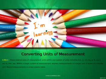4.MD.1 - Measurement Lesson