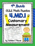 4.MD.1 Practice Sheets: Customary Measurement