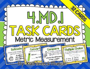 4.MD.1 Task Cards: Metric Measurement