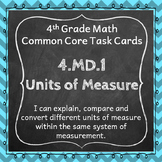 4.MD.1 Task Cards ⭐ Units of Measurement Centers