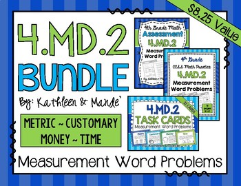 4.MD.2 BUNDLE: Measurement Word Problems {Metric, Customary, Time, and Money}