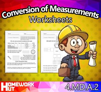 4.MD.2 - Conversion of Measurements Worksheets