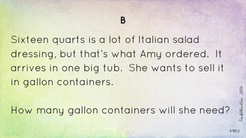 4.MD.2 Measurement Word Problems Task Cards
