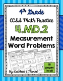 4.MD.2 Practice Sheets: Measurement Word Problems