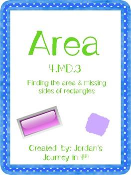 4.MD.3 Area Freebie