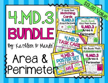 4.MD.3 BUNDLE: Area & Perimeter