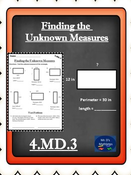 4.MD.3 Finding the Unknown Measure
