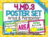 4.MD.3 Poster Set: Area & Perimeter