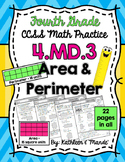 4.MD.3 Practice Sheets: Area & Perimeter