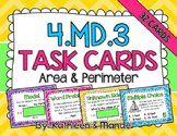 4.MD.3 Task Cards: Area & Perimeter
