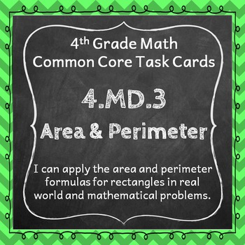 4.MD.3 Task Cards: Area & Perimeter (Fourth-Grade Common C