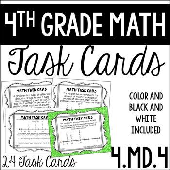 4.MD.4 4th Grade Math Task Cards (Line Plots)