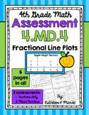 4.MD.4 Assessment: Fractional Line Plots {2 Assessments}