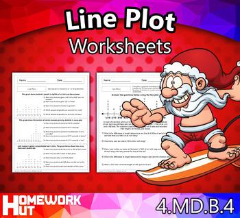 4.MD.4 - Line Plot Worksheets
