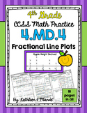 4.MD.4 Practice Sheets: Fractional Line Plots