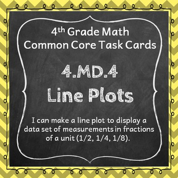 4.MD.4 Task Cards: Line Plots, Data in Fractions of a Unit