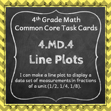 4.MD.4 Task Cards ⭐ Line Plots Centers
