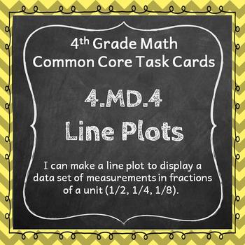 4.MD.4 Task Cards: Line Plots Task Cards 4.MD.4: Fractions