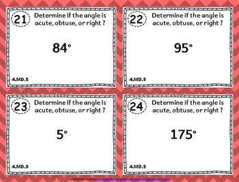 4.MD.5 Task Cards: Recognizing Angles Task Cards 4.MD.5: Angle Measurement