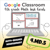 ⭐ GOOGLE CLASSROOM ⭐ 4.MD.5 Task Cards ⭐ Angles