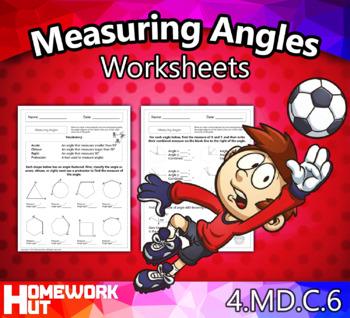 4.MD.6 - Measuring Angles Worksheets