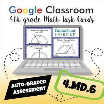 4.MD.6 Task Cards Digital: Measure Angles