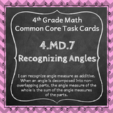 4.MD.7 Task Cards ⭐ Adding Angles Centers