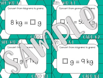 4.MD.A.1 Converting Grams and Kilograms Task Cards