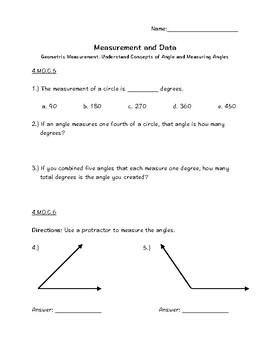 4.MD.C.5,6&7 Geometric Measurement-Angles