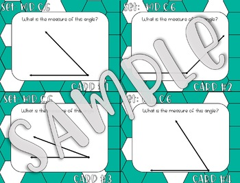 4.MD.C.6 Measuring Angles Task Cards