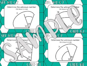 4.MD.C.7 Determine Unknown Angles Task Cards