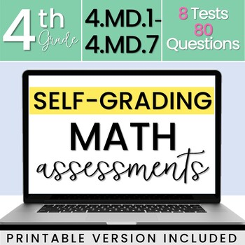 4.MD Measurement & Data Assessments - Math Review - 4th Grade